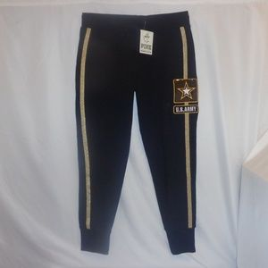 VS Pink M Pants Skinny Jogger U.S. Army Bling NWT